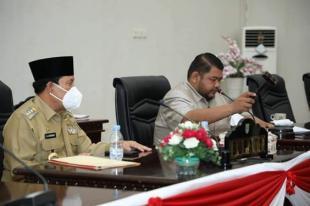 DPRD Rohul Paripurna Ranperda, LKPJ Bupati TA 2020, LP2B dan Penyandang Disabilitas